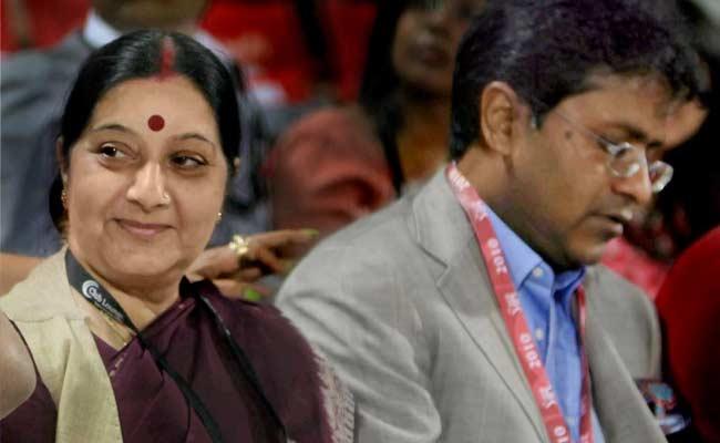 Sushma Swaraj and Lalit Modi