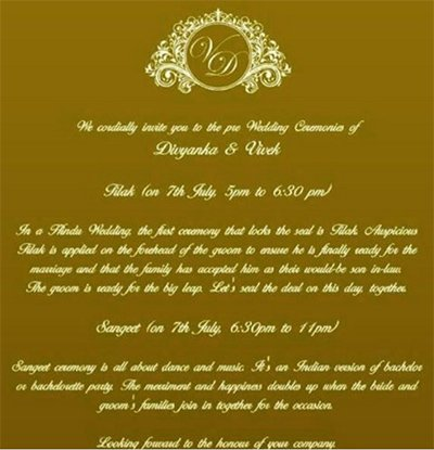 Divyanka And Vivek's Wedding Card Leaked