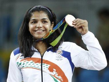 Sakshi Malik Wons The First Bronze Medal In Wrestling.